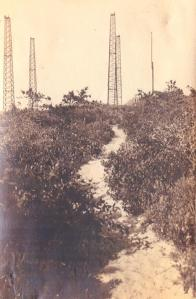 Marconi Towers from path. Photo given to me by Ed Ayres. Possible F.C. Hicks photo