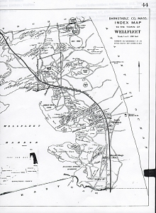 1910 Map of Wellfleet with property owners